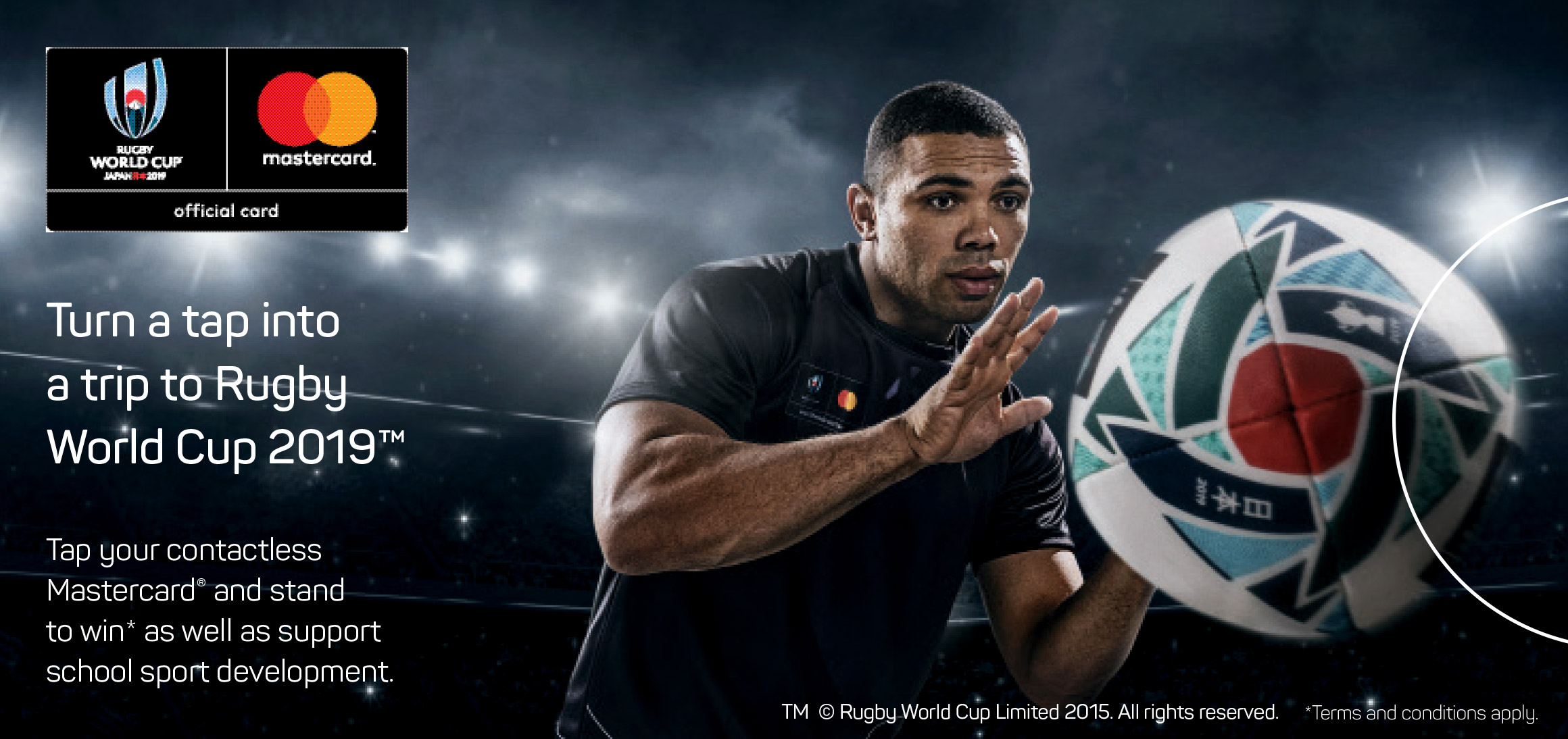 Turn a tap into a trip to the Rugby World Cup 2019