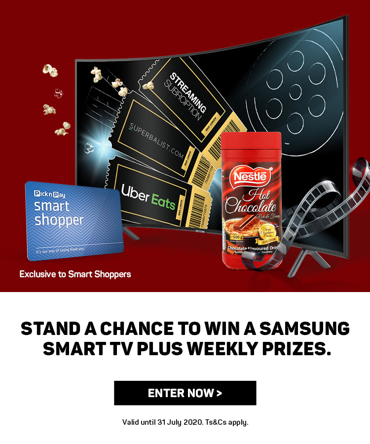 Win a Samsung Smart TV Plus Weekly Prizes