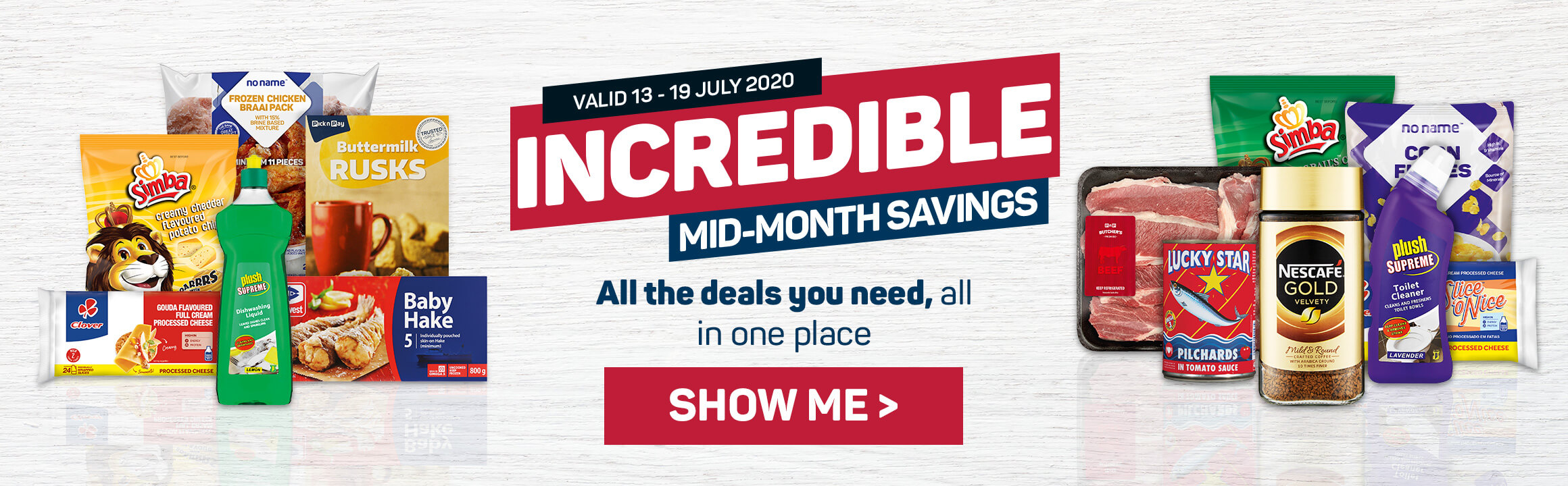 Incredible mid-month savings. Show me
