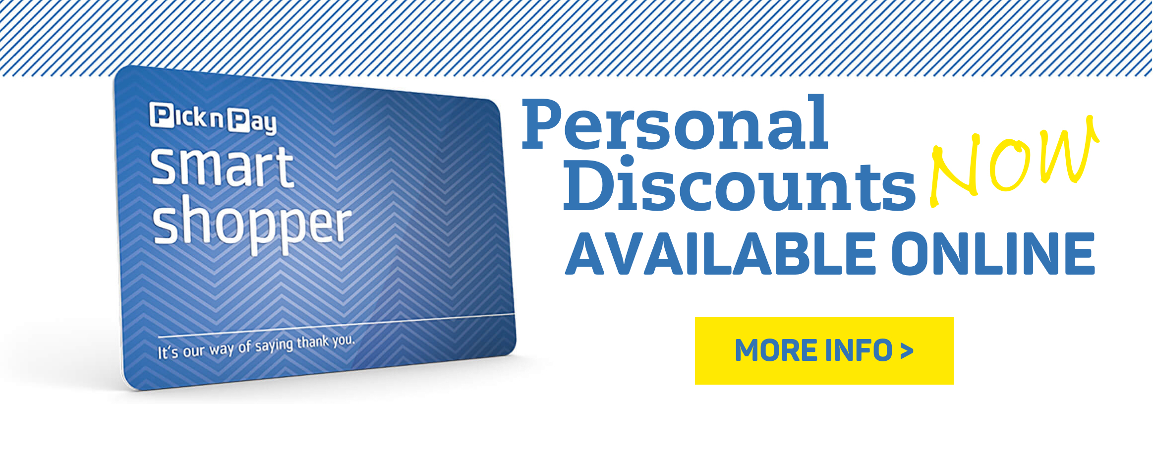 Personal discounts now available online! More info >