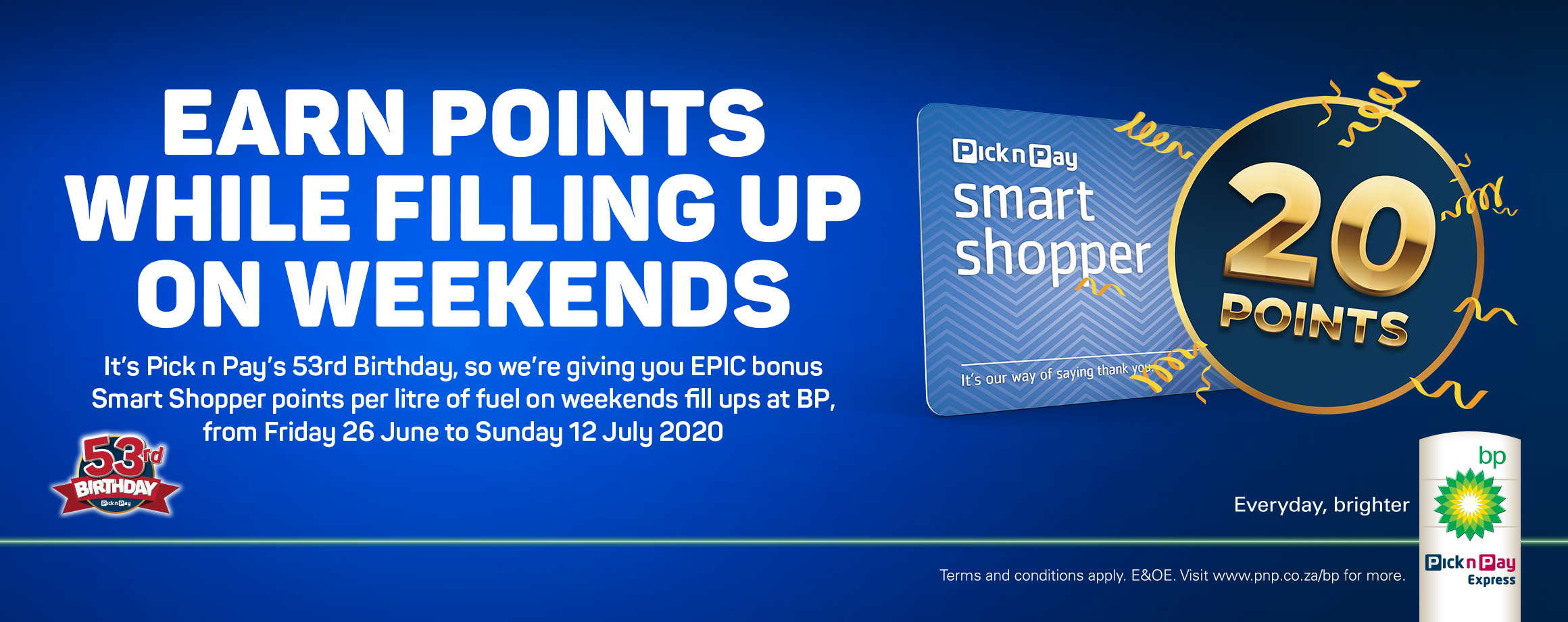 Earn points while filling up on weekends