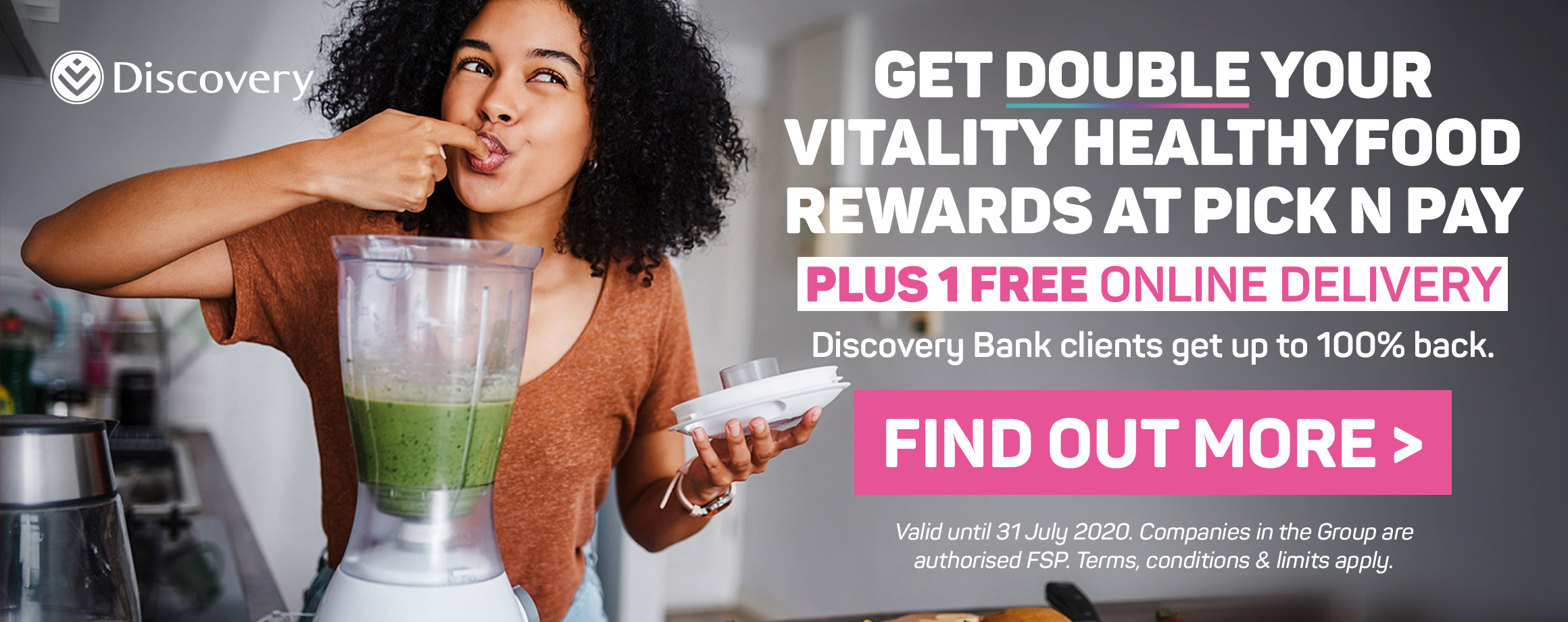 Get double your vitalilty healthyfood rewards at Pick n Pay. Find out more >
