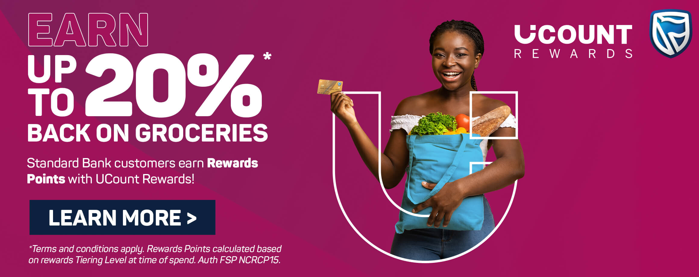 Earn up to 20% back on groceries. Learn more