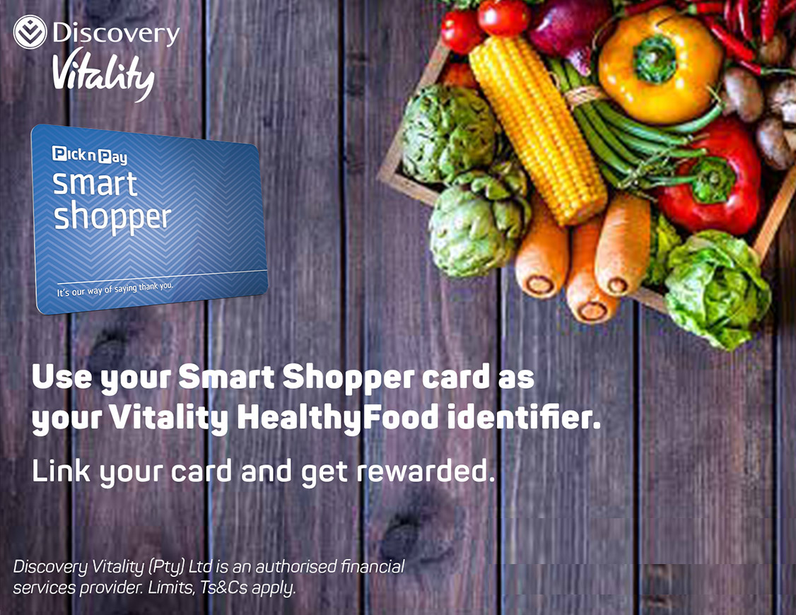Use your Smart Shopper card as your Vitality HealthyFood identifier