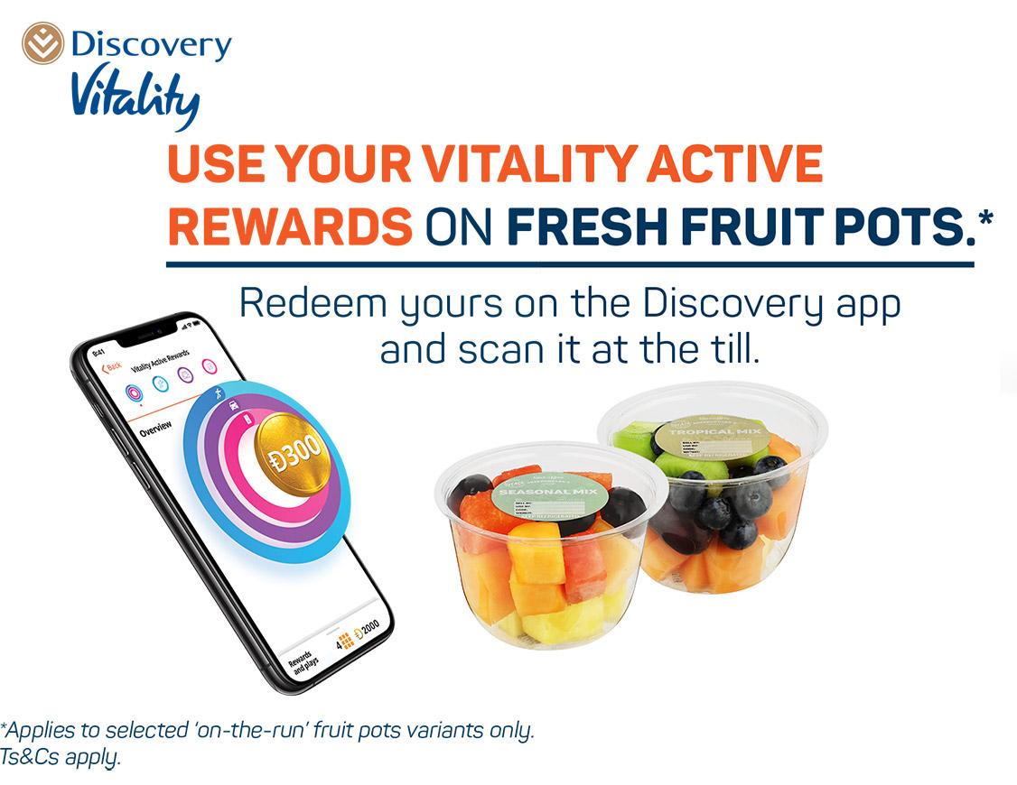 Use your vitality active rewards on fresh fruit pots,