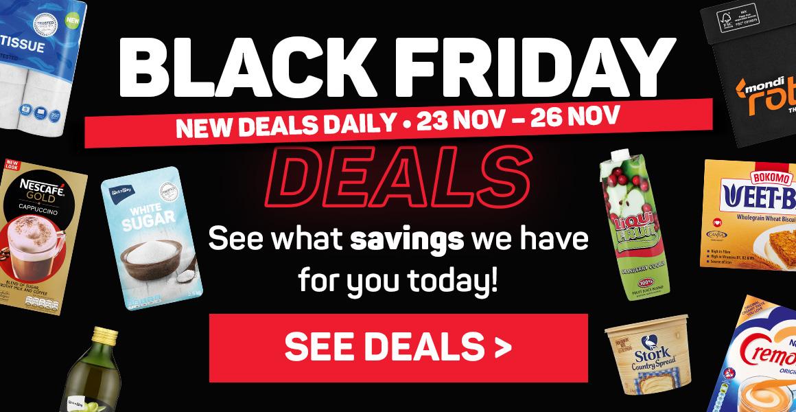 Black Friday deals 23 Nov - 26 Nov. See deals