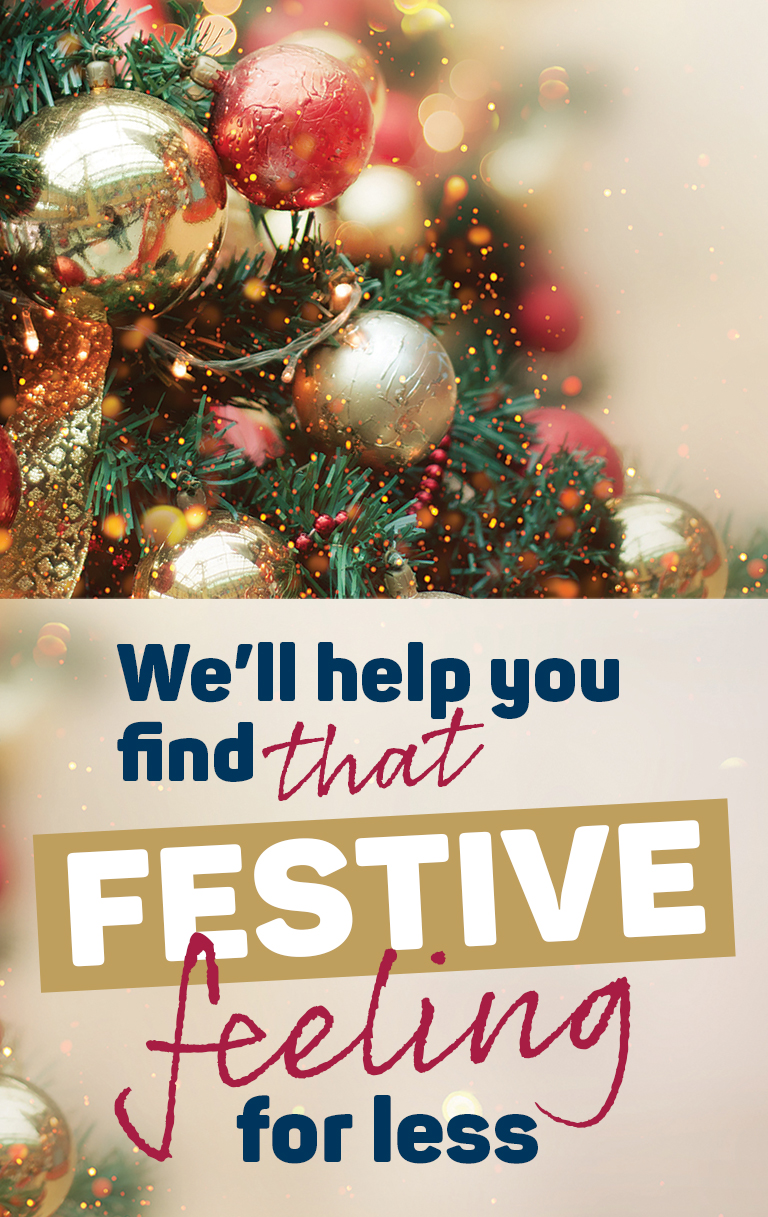 We'll help you find that festive feeling for less