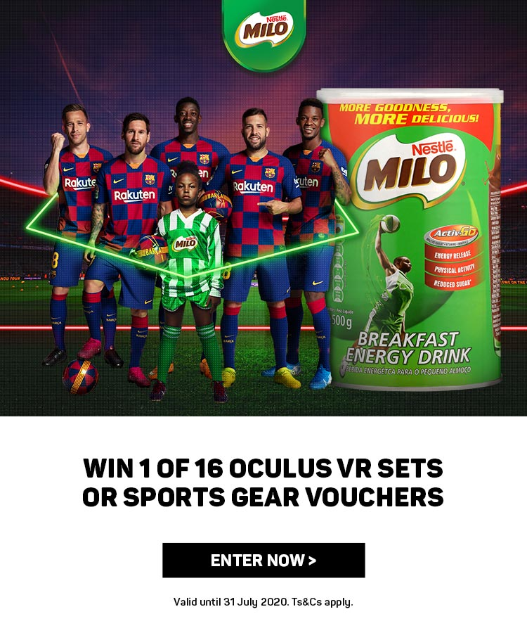 Win 1 of 16 Oculus VR sets or sports gear vouchers. Enter now