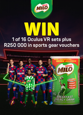 Win 1 of 16 Oculus VR sets plus R250 000 in sports gear vouchers