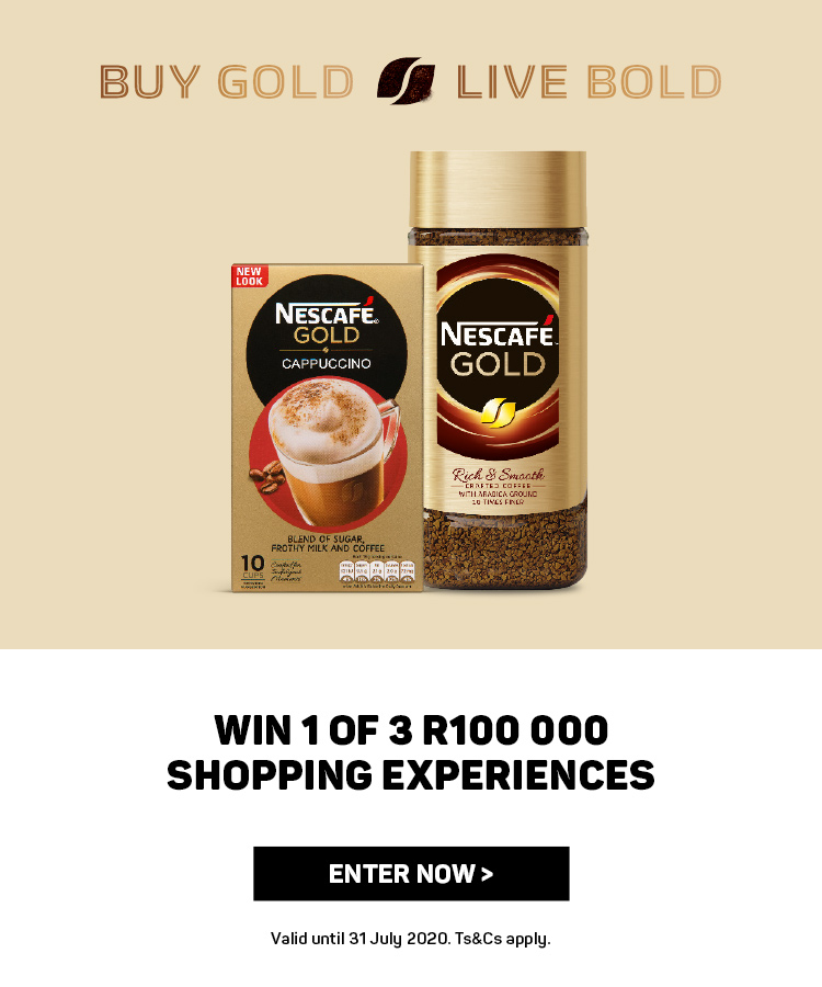 Win 1 of 3 R100 000 shopping experiences. Enter now