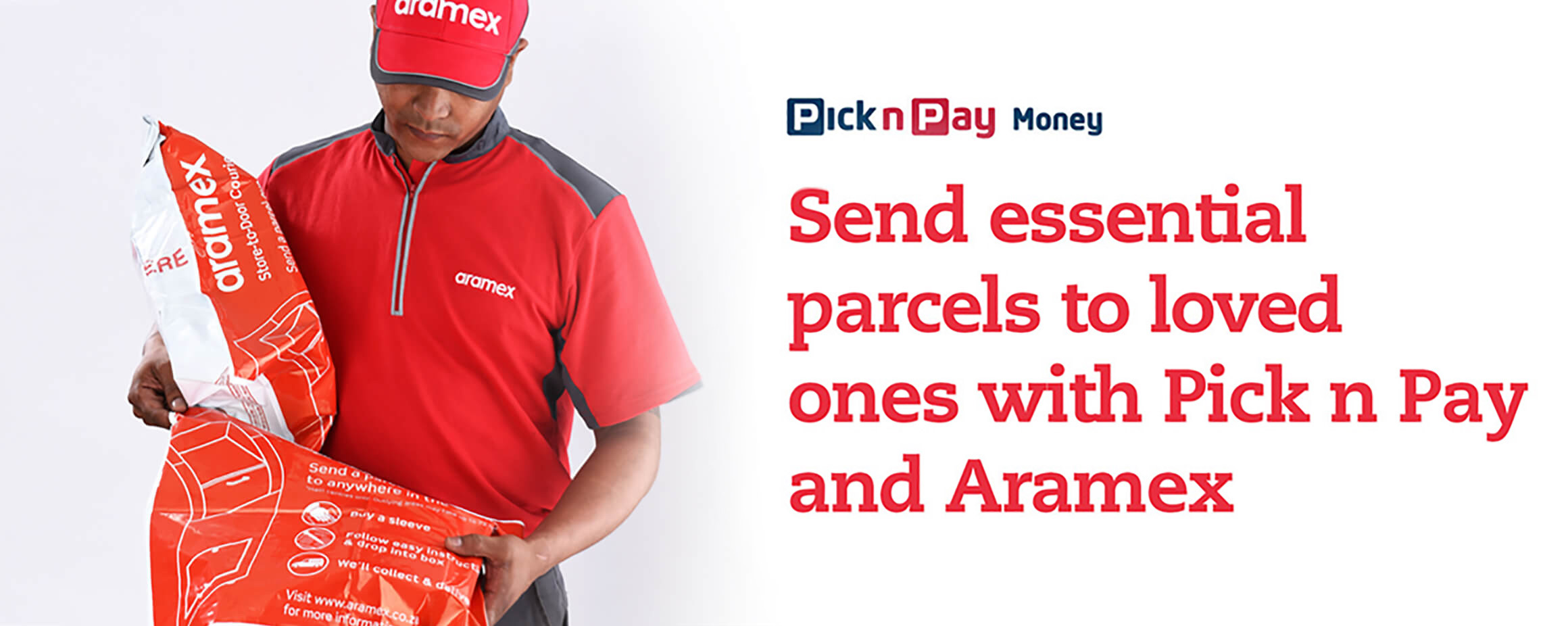 Send essential parcels to loved ones with Pick n Pay and Aramex