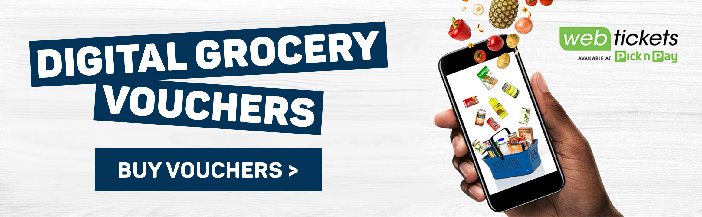 Digital grocery voucher. Buy vouchers