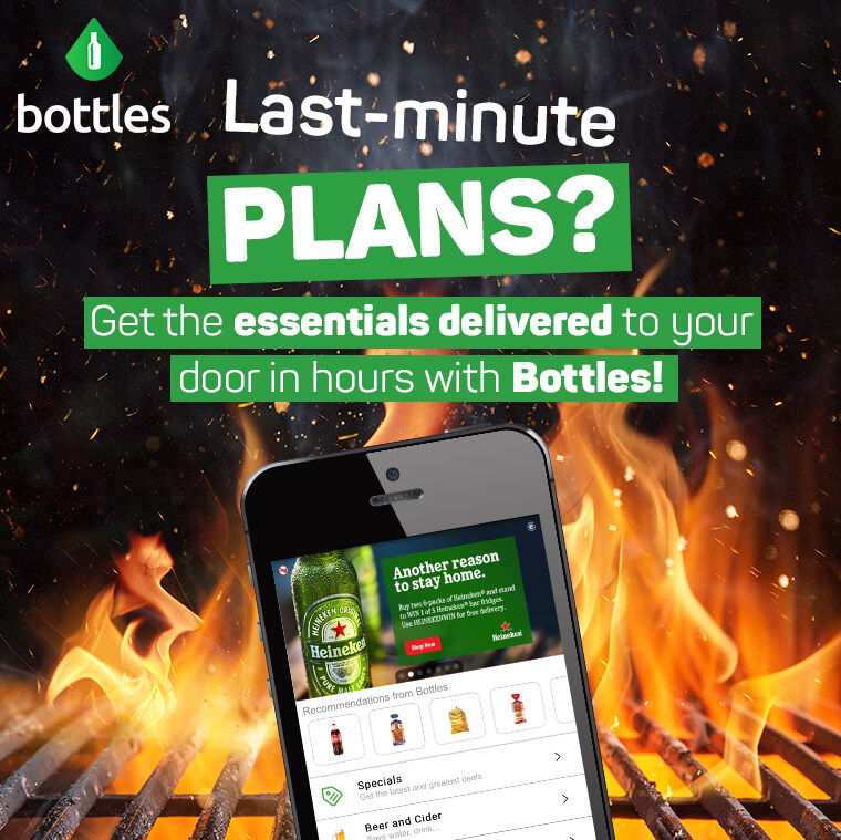 Last-minute plans? Get the essentials delivered to your door in hours with Bottles