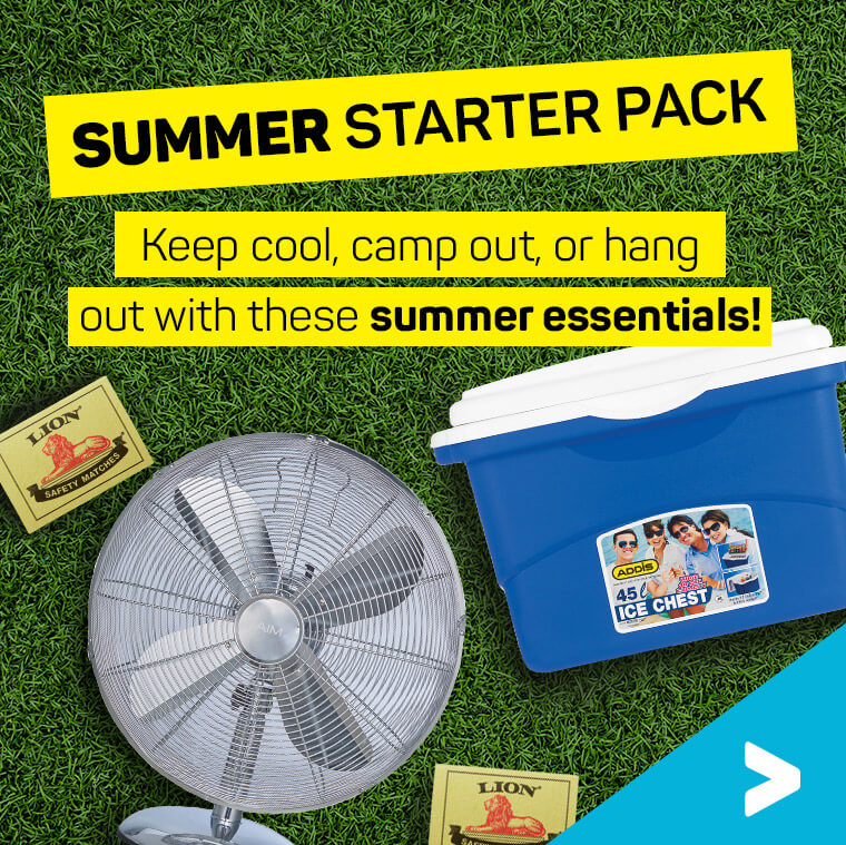 Summer starter pack. Keep cool, camp out, or hang out with these summer essntials