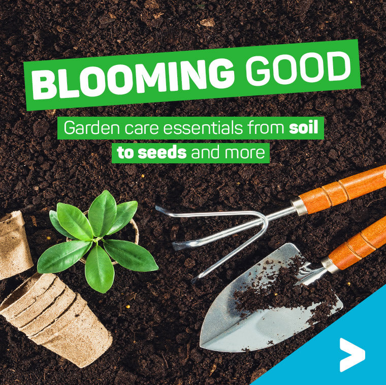 Blooming good. Garden care essentials from soil to seeds and more