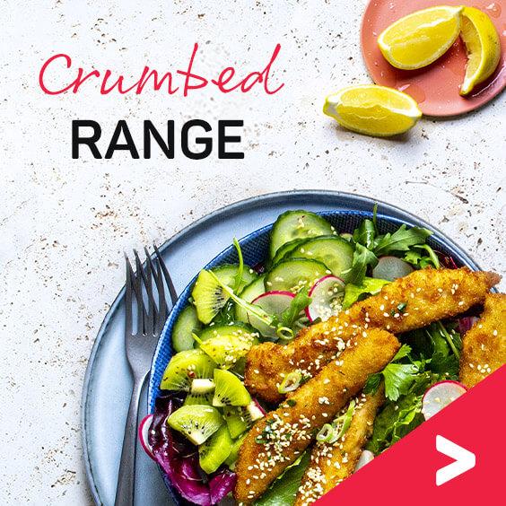 Crumbed range recipes
