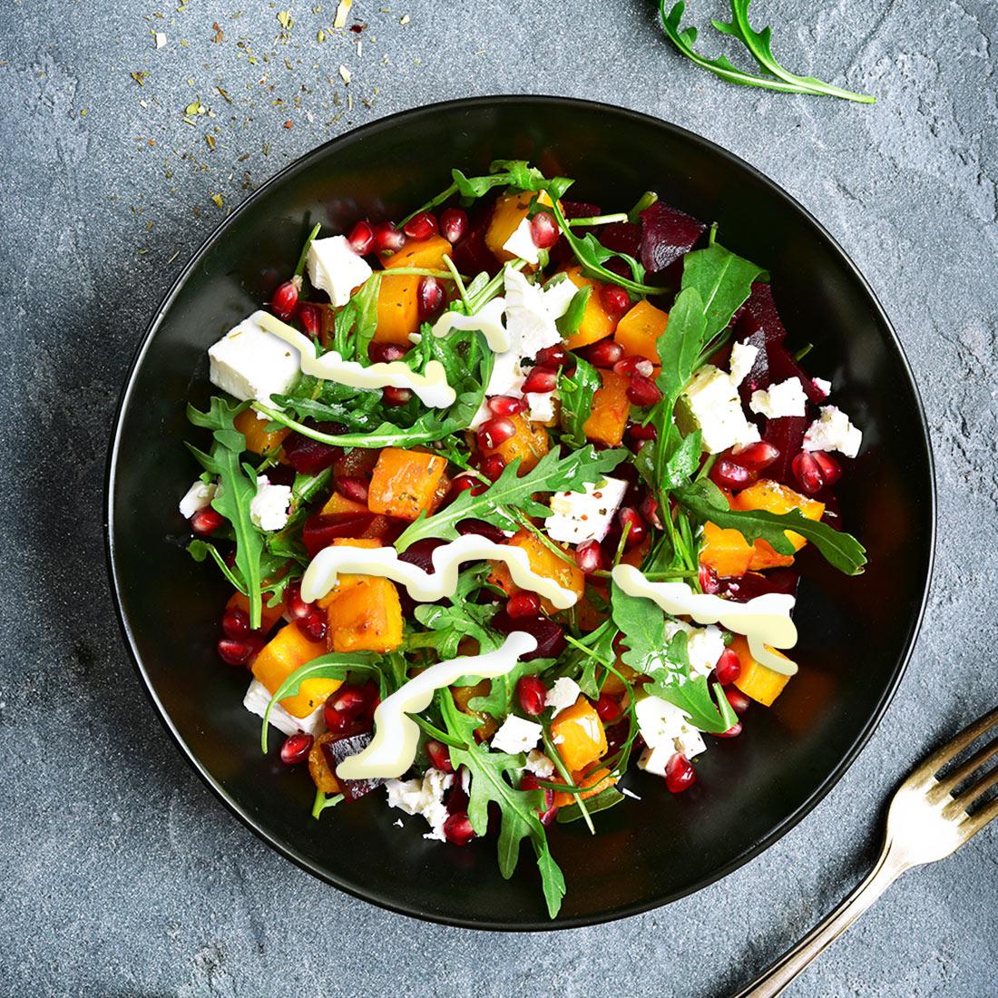 Butternut and feta salad