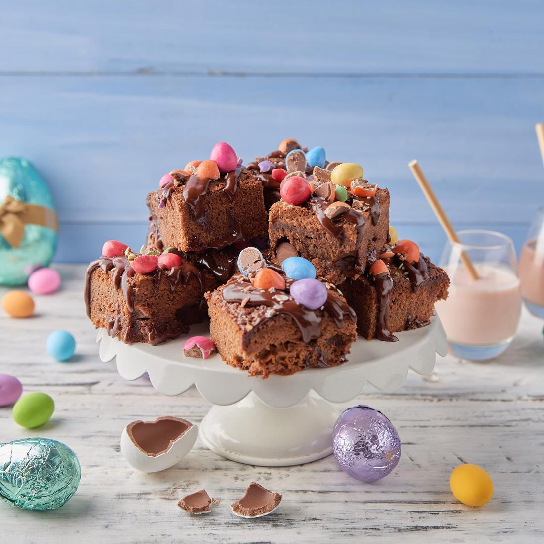 Nestle - Mint caramel brownies