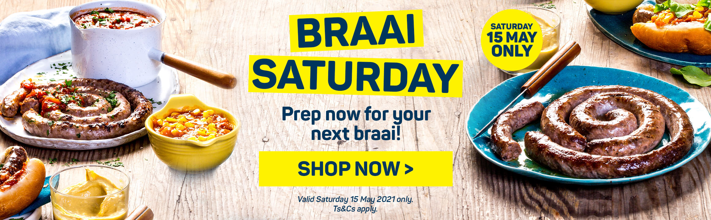 Braai Saturday. Shop now