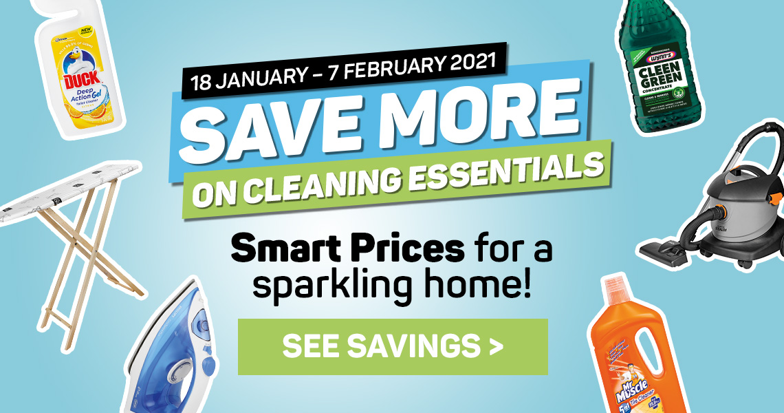 Save more on cleaning essentials