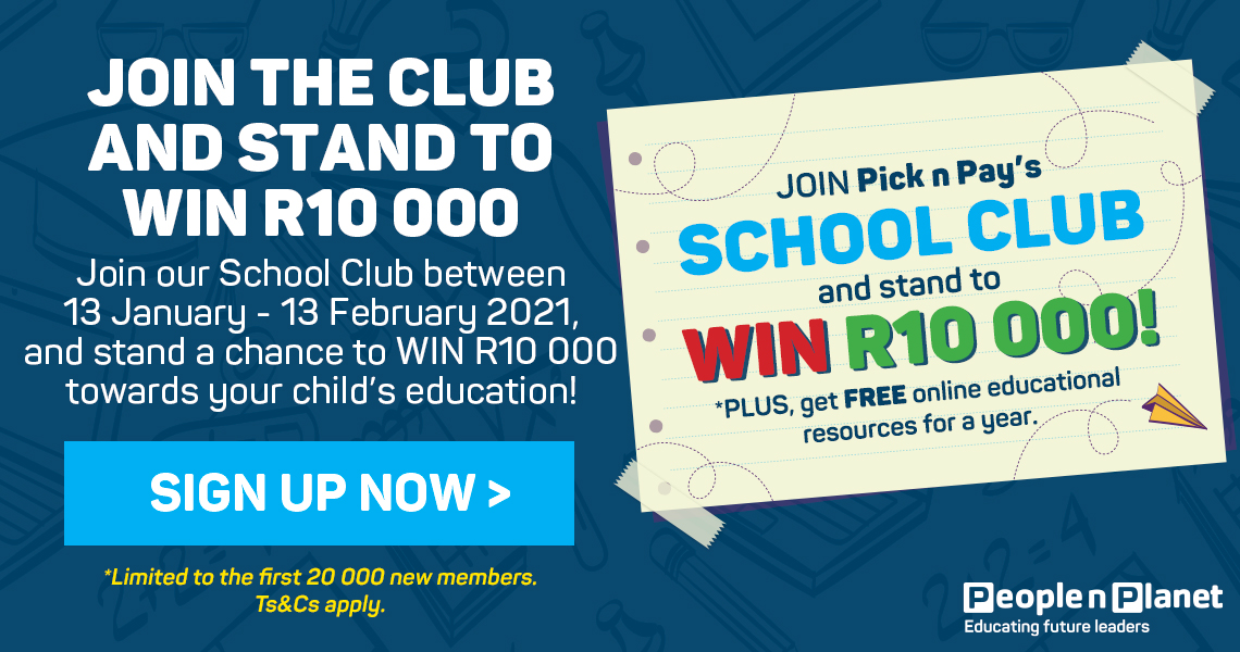 Join the club and stand to win R10000. Sign up now