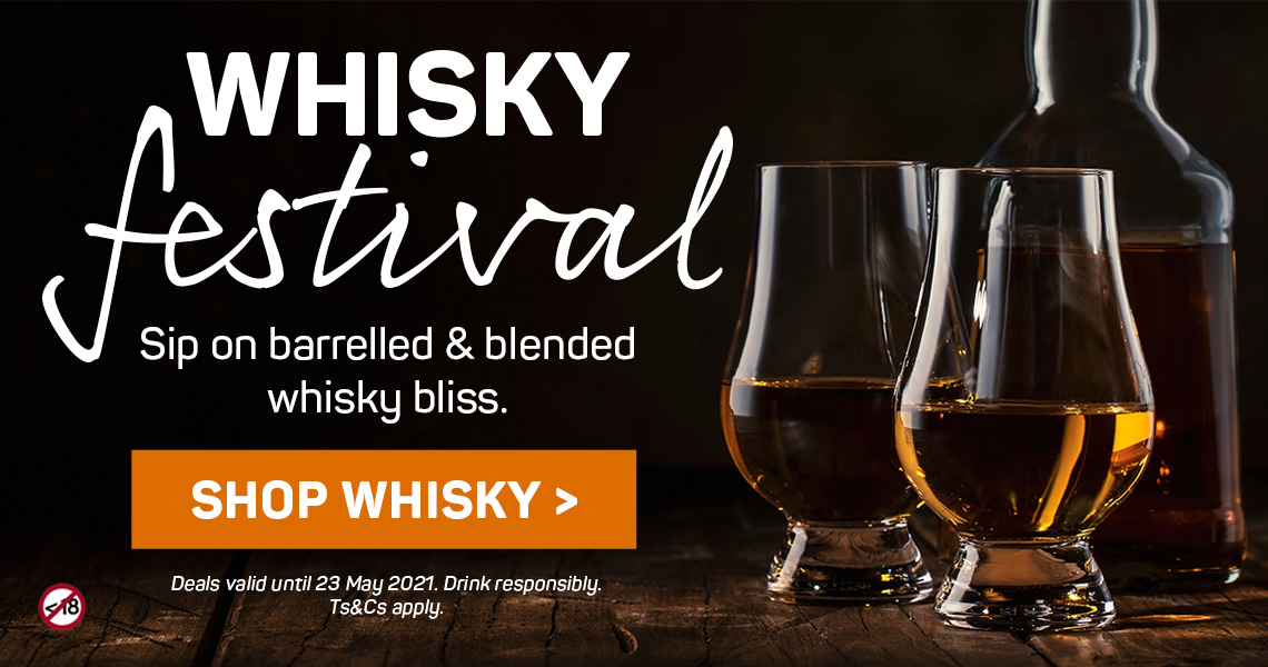 Sip on barrelled & blended whisky bliss. Shop whisky