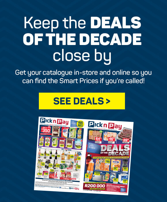Keep the deals of the decade close by. See deals >