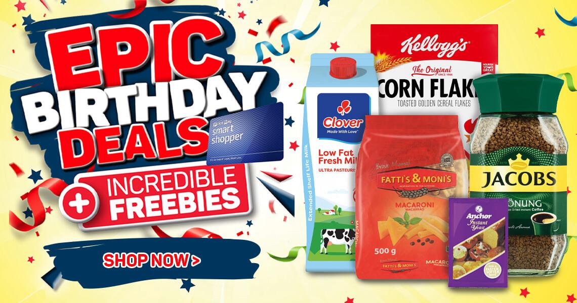 Shop Epic Birthday Deals now >