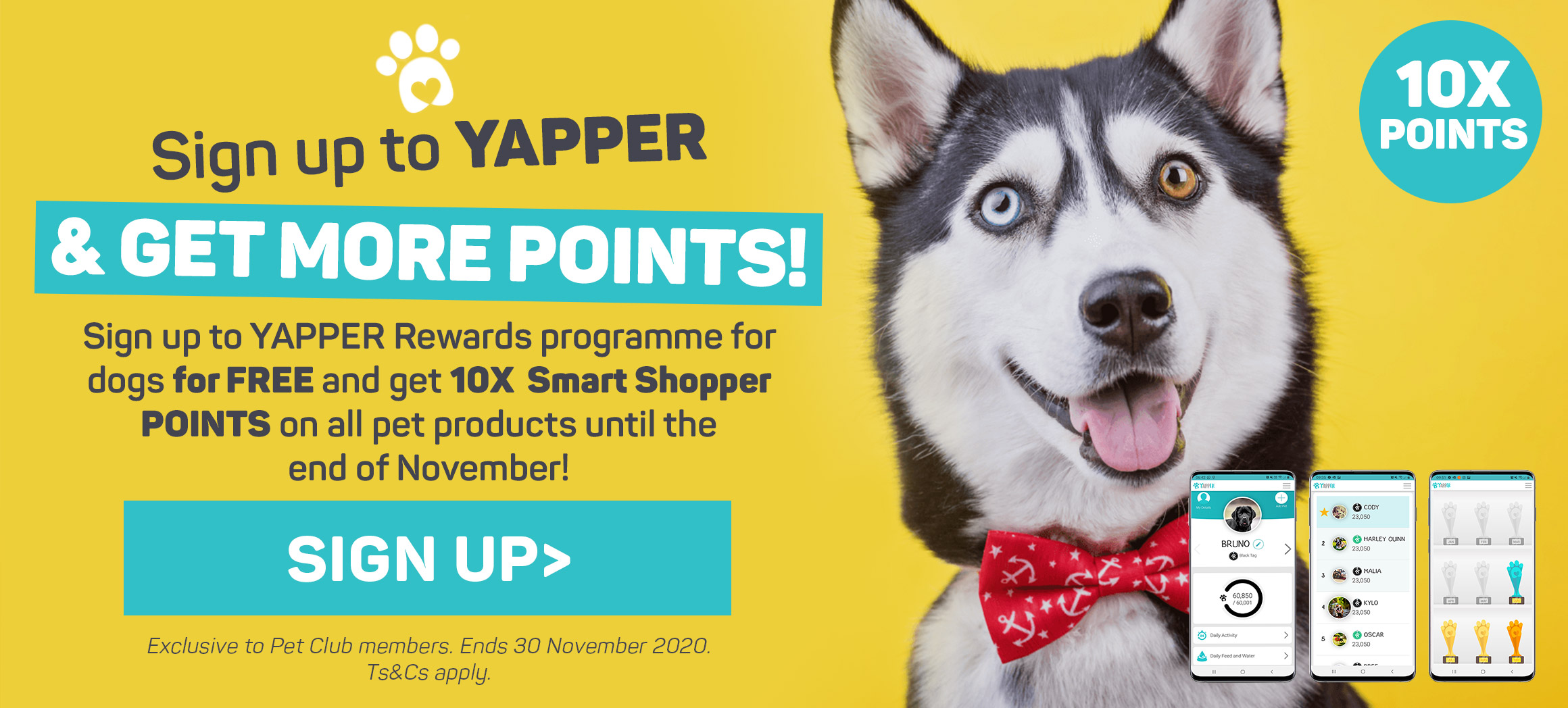 Sign up to Yapper & get more points! Sign up